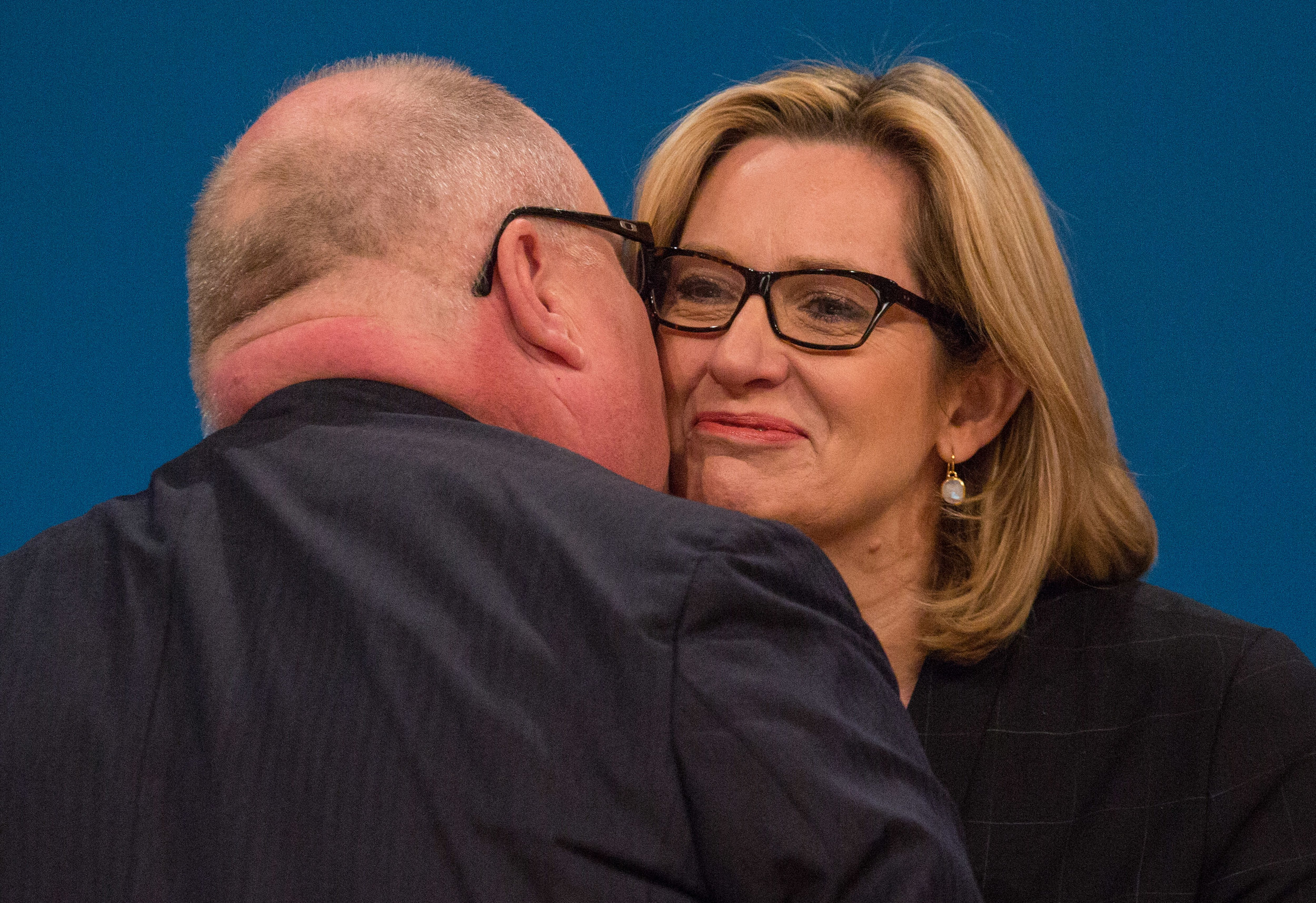 Eric Pickles kissing Amber Rudd