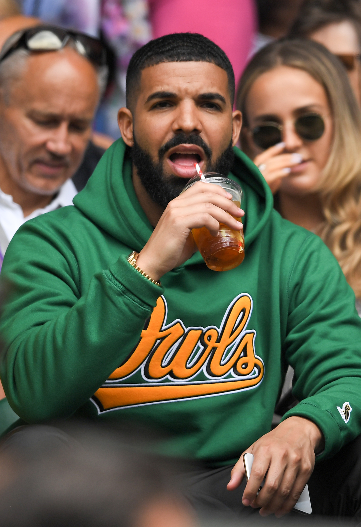 Drake on Centre Court