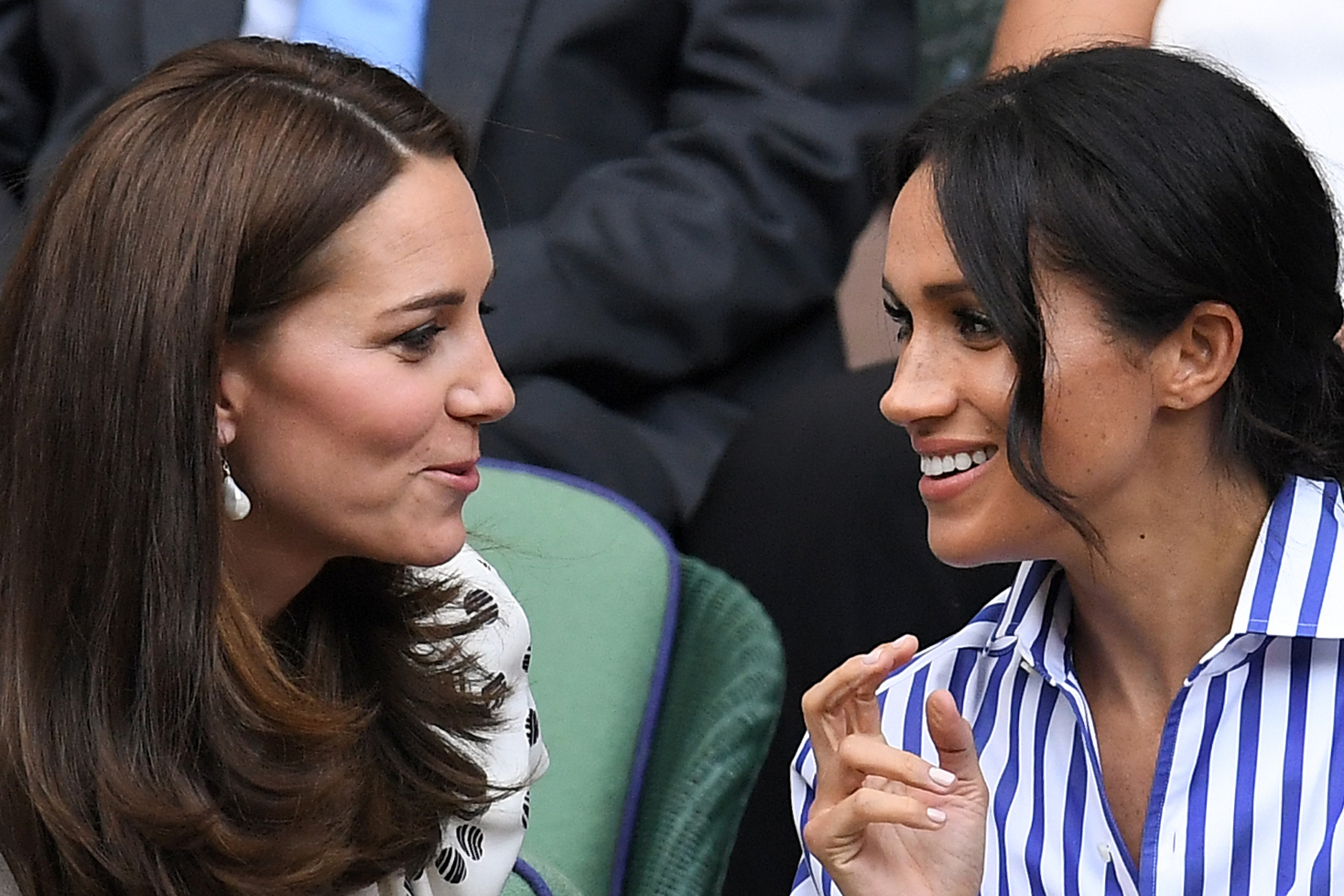 Catherine Duchess of Cambridge and Meghan Duchess of Sussex in the Royal Box