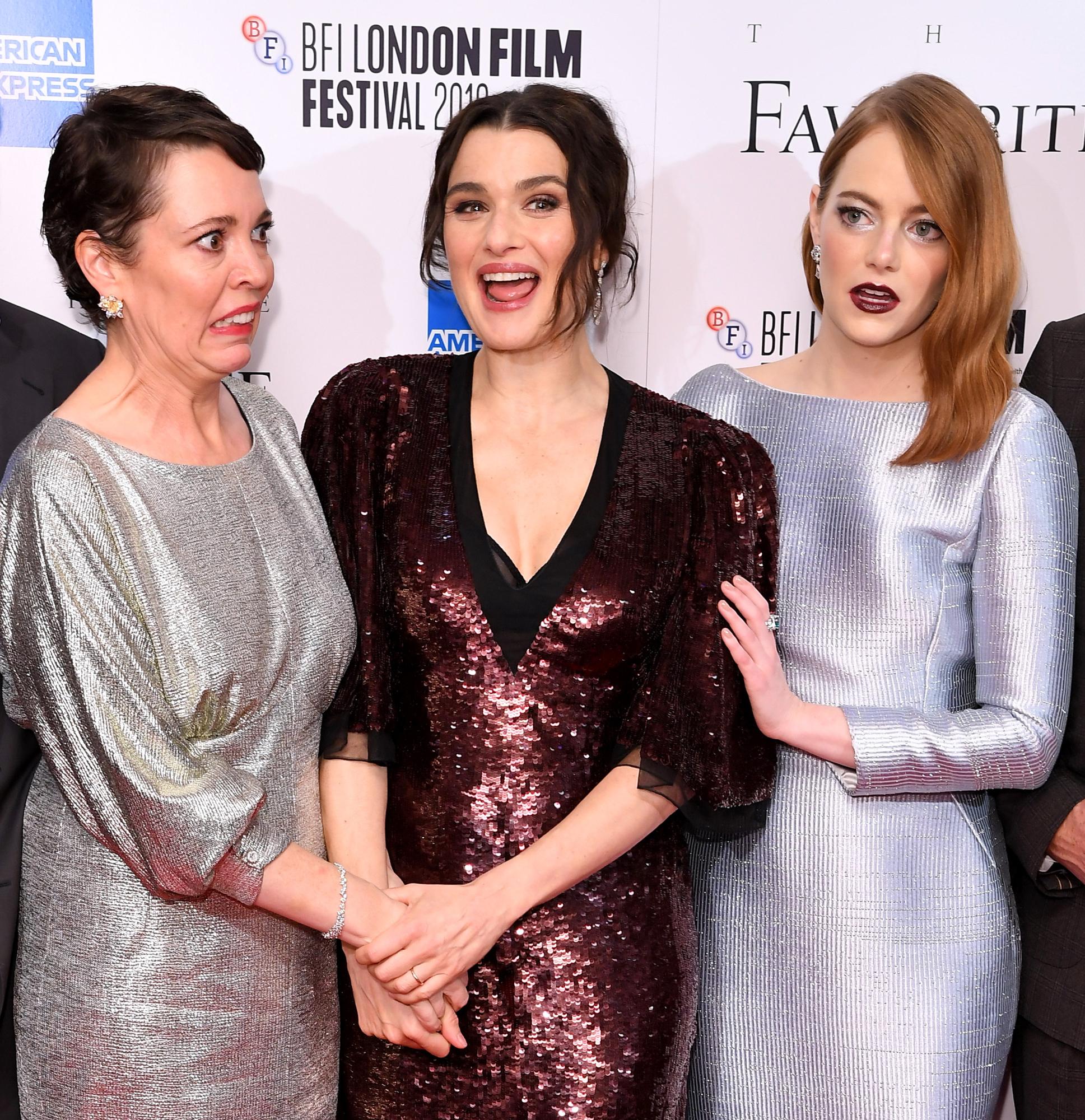 Olivia Colman, Rachel Weisz and Emma Stone