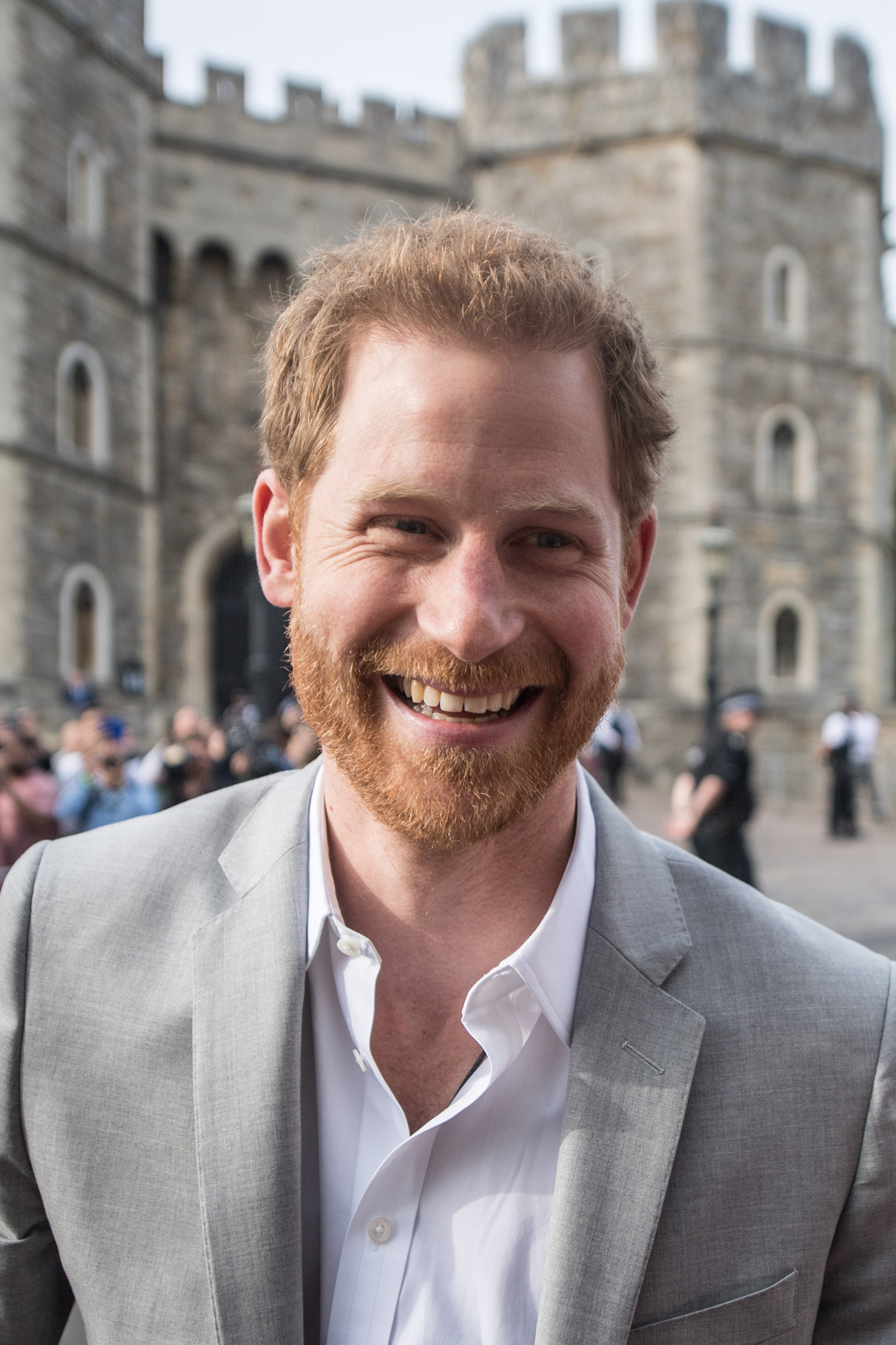 Prince Harry outside Windsor Castle