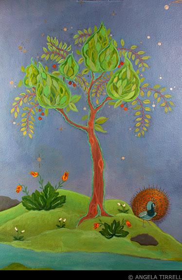 "Integrative Healing Studio, ""Yin & Yang,"" Napa, CA  Angela Tirrell — Master Muralist, 2012"