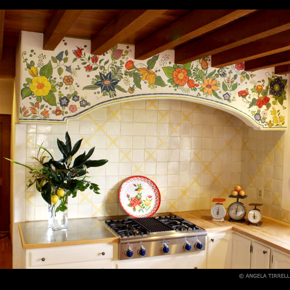 Kitchen Frieze, Napa Valley, CA  Angela Tirrell — Master Muralist, 20