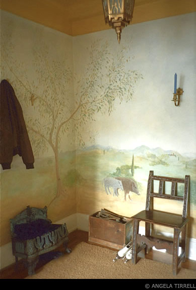 Umbrian Countryside, New York, NY  Angela Tirrell — Master Muralist,