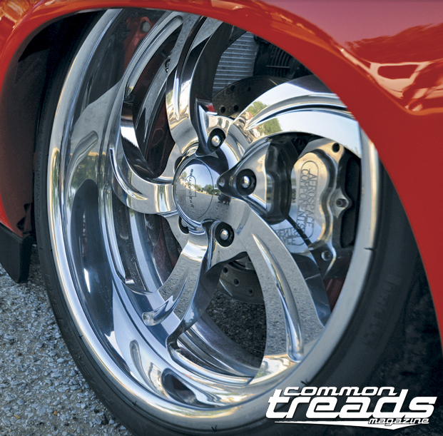 These Billet Specialties wheels look right at home on Redd Wud!