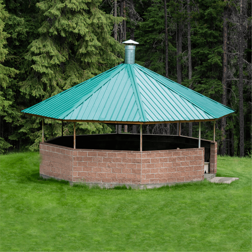 A beautiful brickwork gazebo is found on the ILCRC grounds!