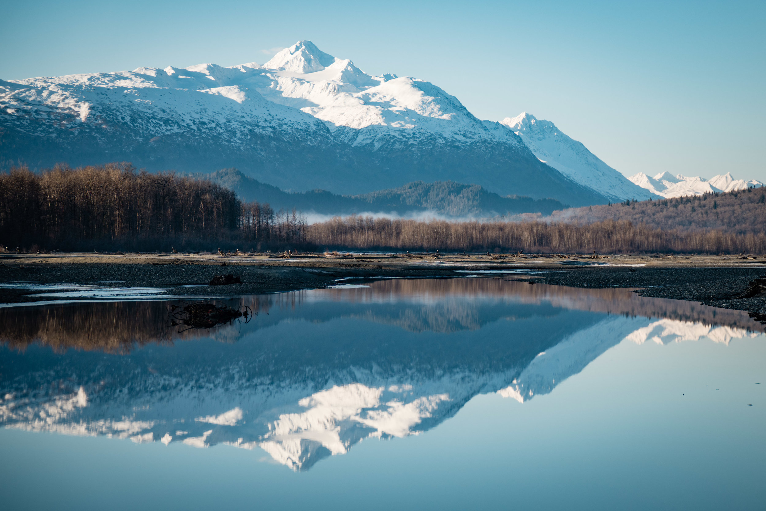 Chilkat River in fall   Photo - Colin Arisman