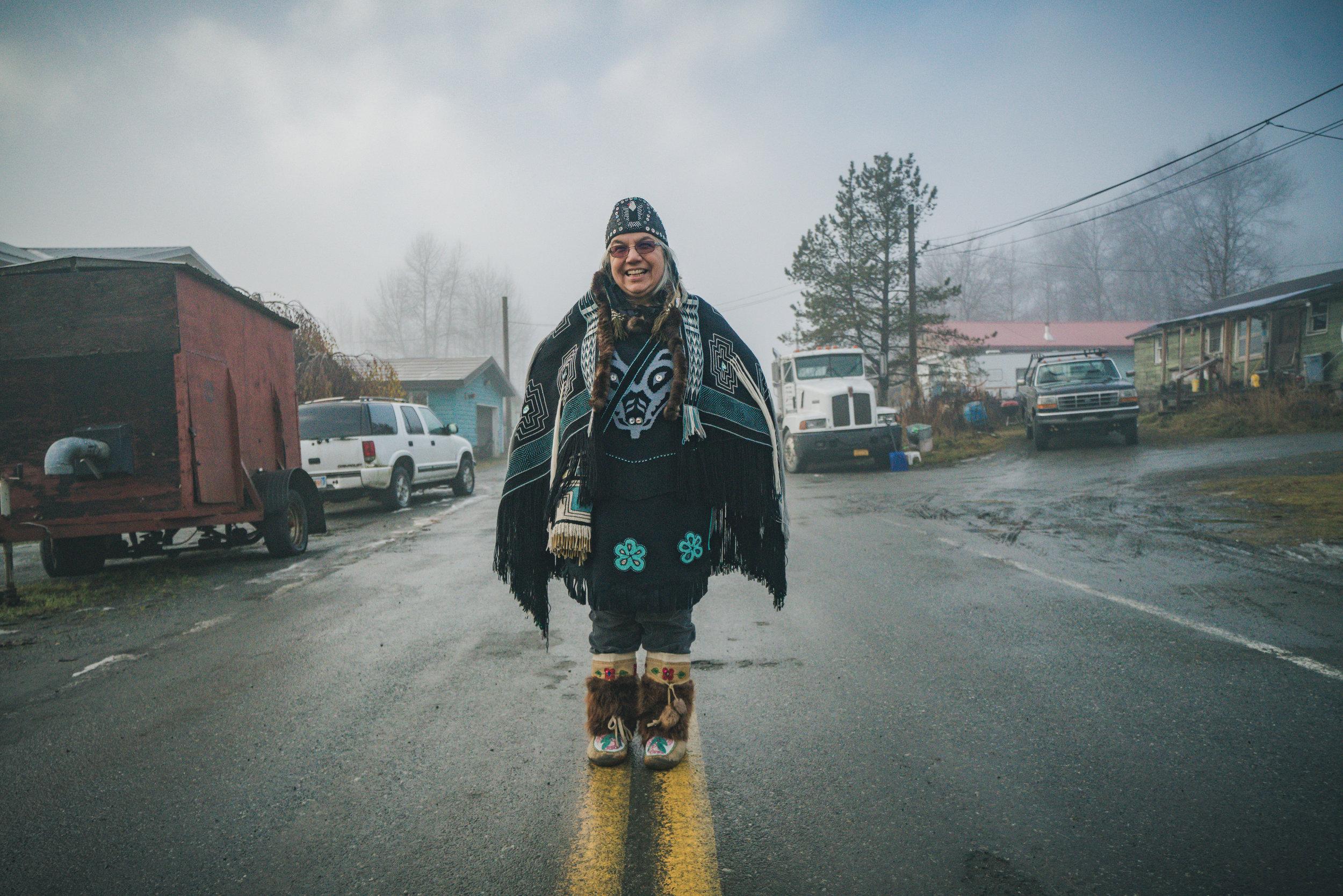 Lani Hotch in Klukwan   Photo - Colin Arisman