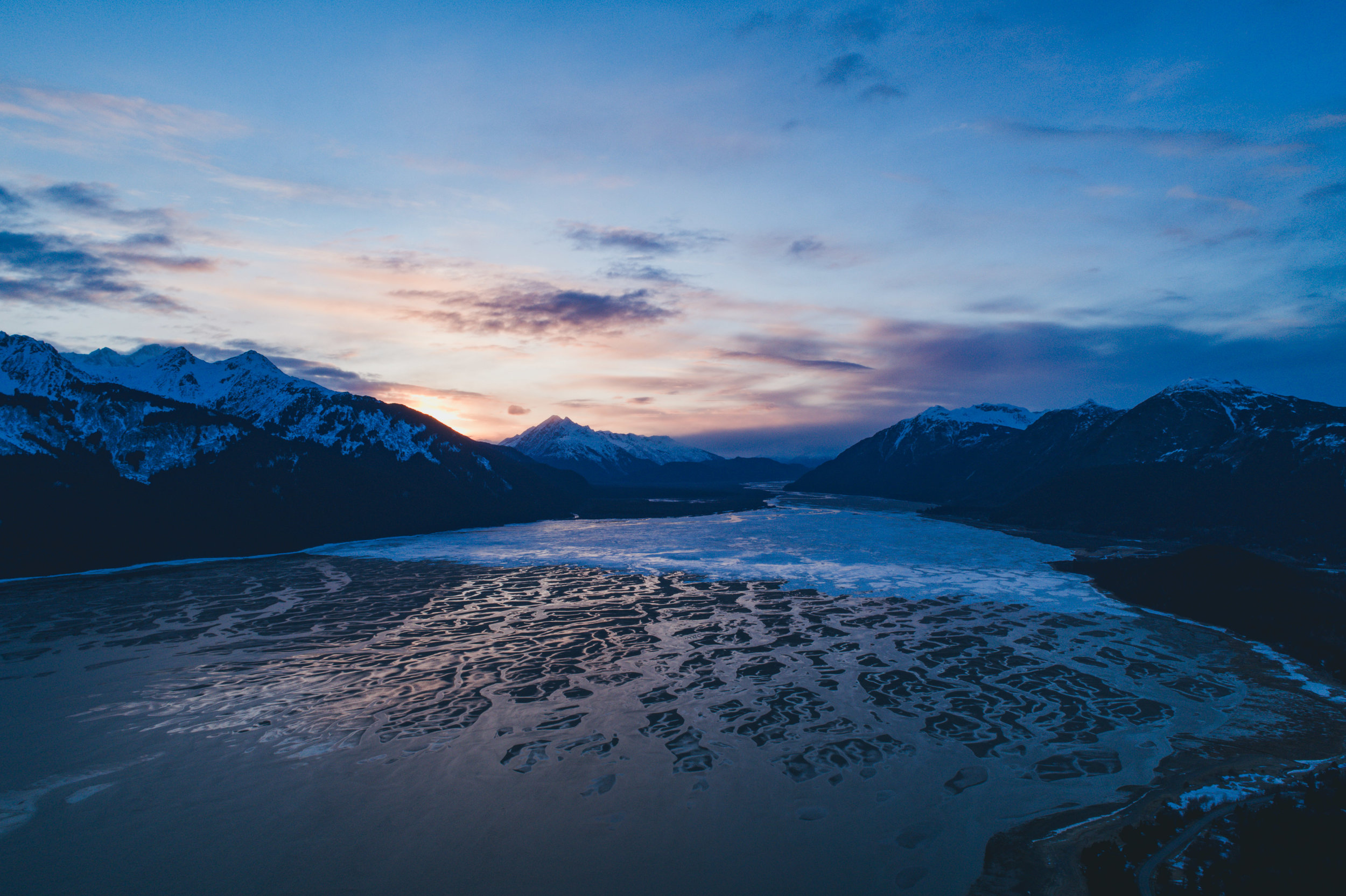 Chilkat River flowing into Lynn Canal   Photo - Connor Gallagher