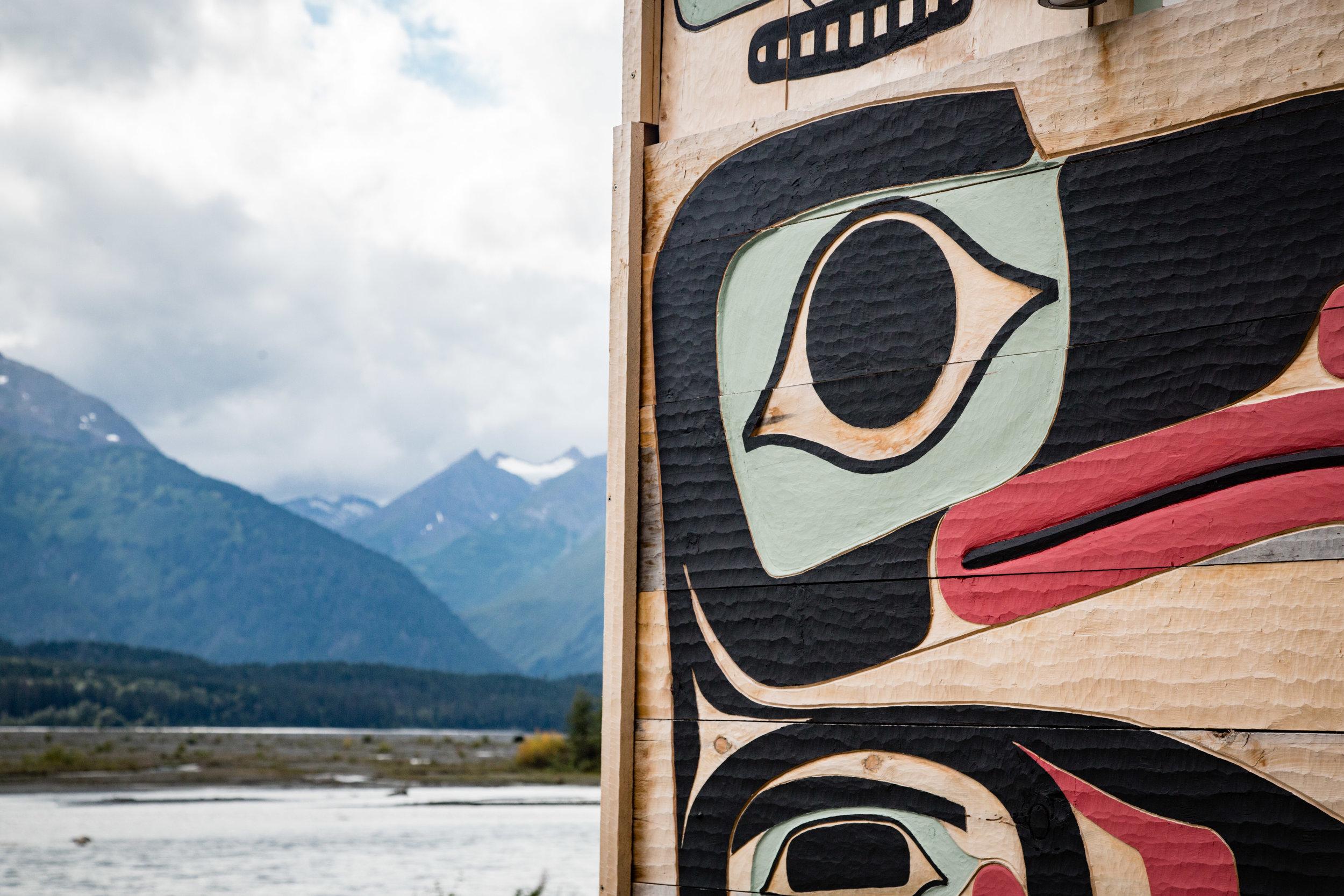 Tlingit carving in Klukwan   Photo - Colin Arisman