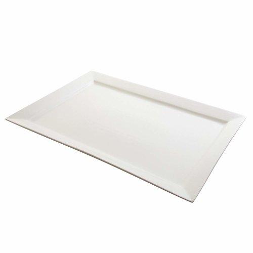 White 10 Strawberry Street Whittier 22 inch Rectangular Platter