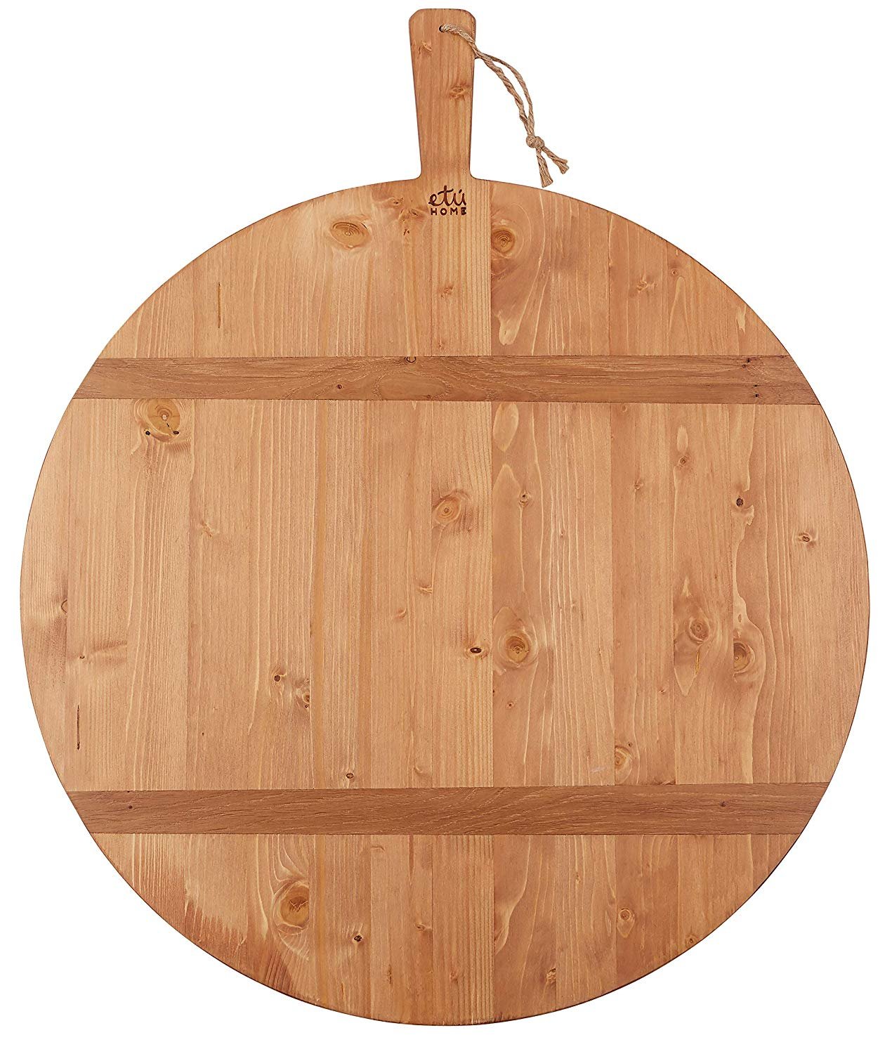 etúHOME Reclaimed Pine Round Charcuterie Board