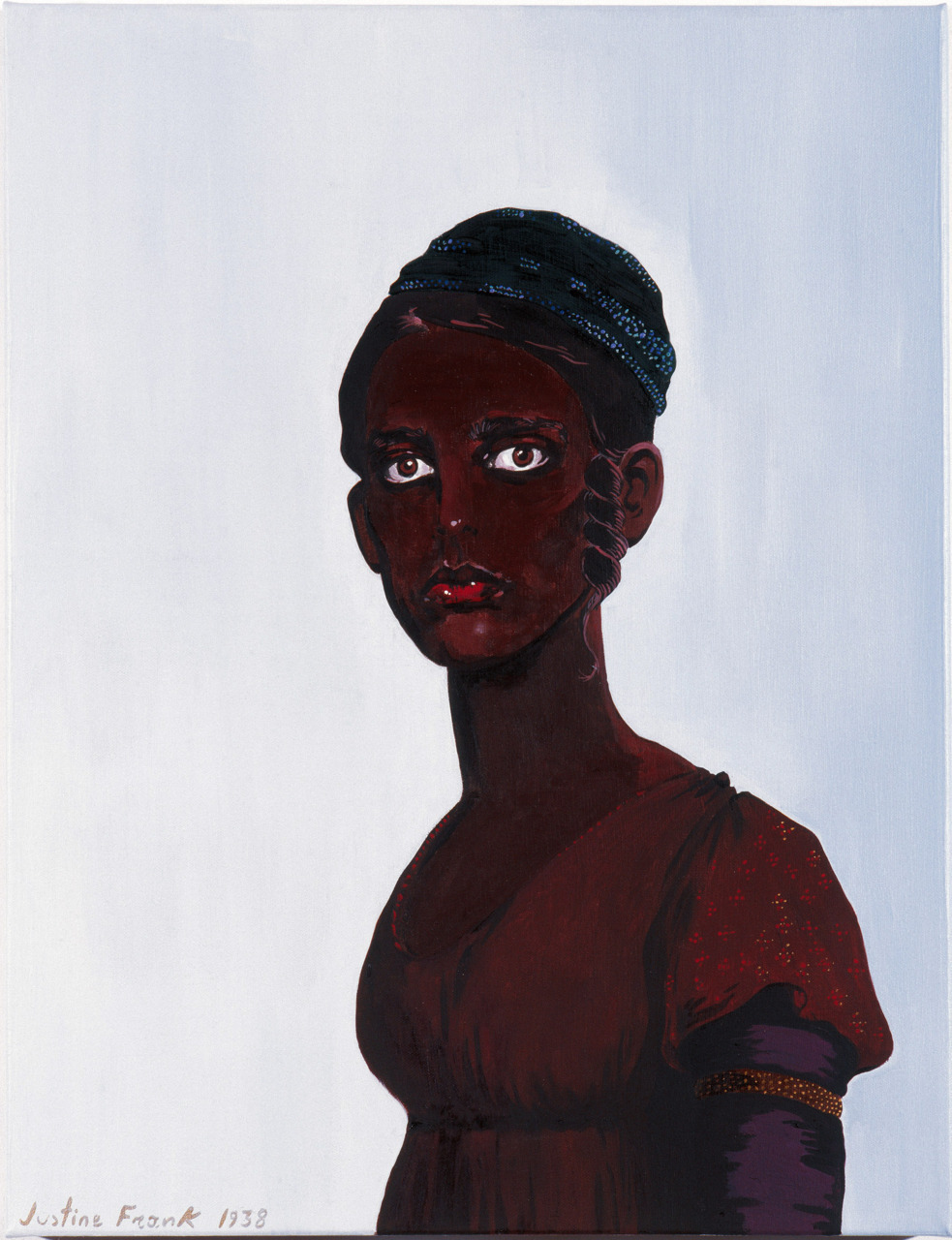 Justine Frank, Untitled (Self Portrait as a Black Woman) , oil on canvas, 1938