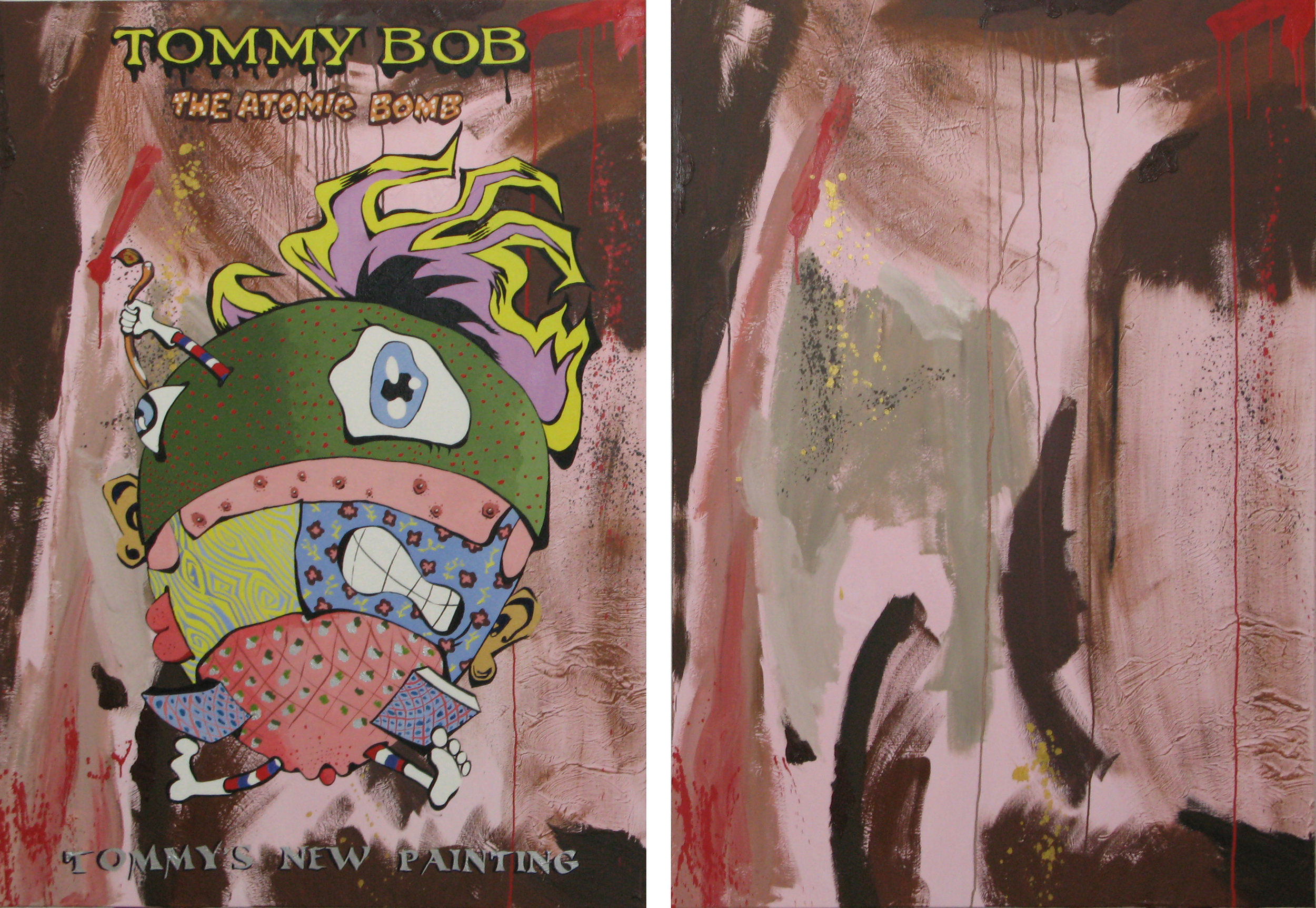 Tommy Bob the Atomic Bomb: Tommy's New Painting , oil on canvas, 2007