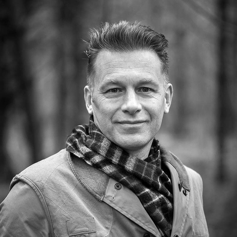 Portrait of naturalist, nature photographer, television presenter and author Chris Packham.Date Taken:01/12/2014Location: The New ForestCommissioned by:  Gerry GranshawDavid Foster ManagementDirect: 0180 386 2786Main: 0126 477 1726www.dfmanagement.tv