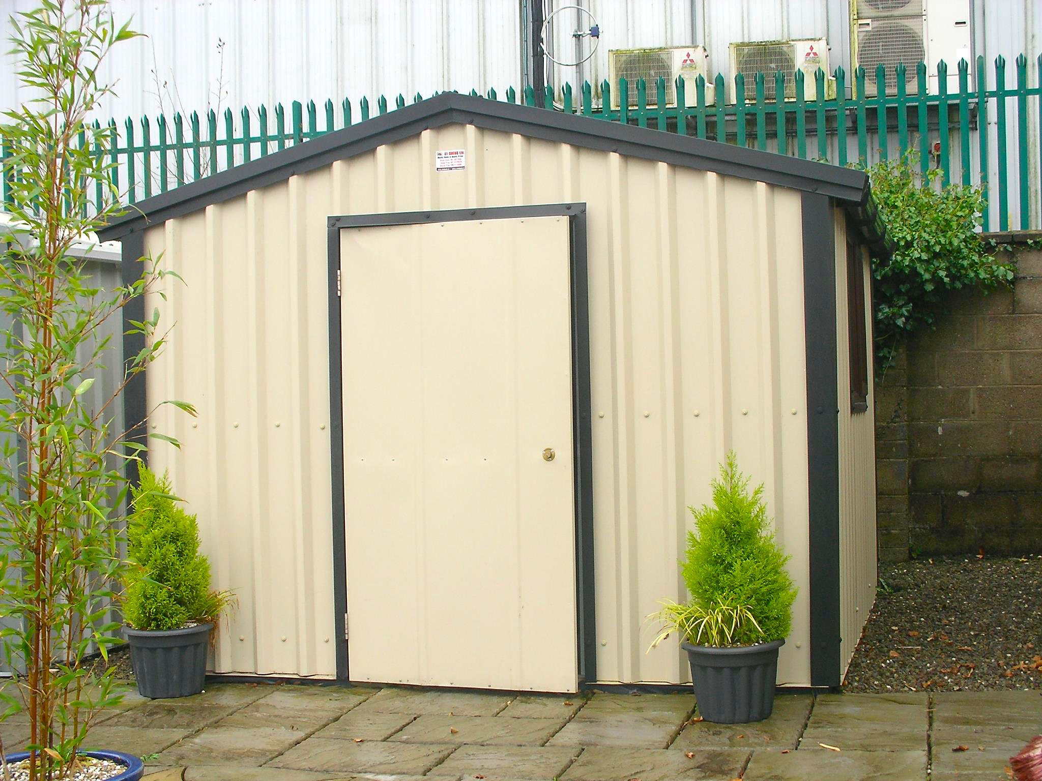 STEEL SHED SIZES & COLOUR RANGE