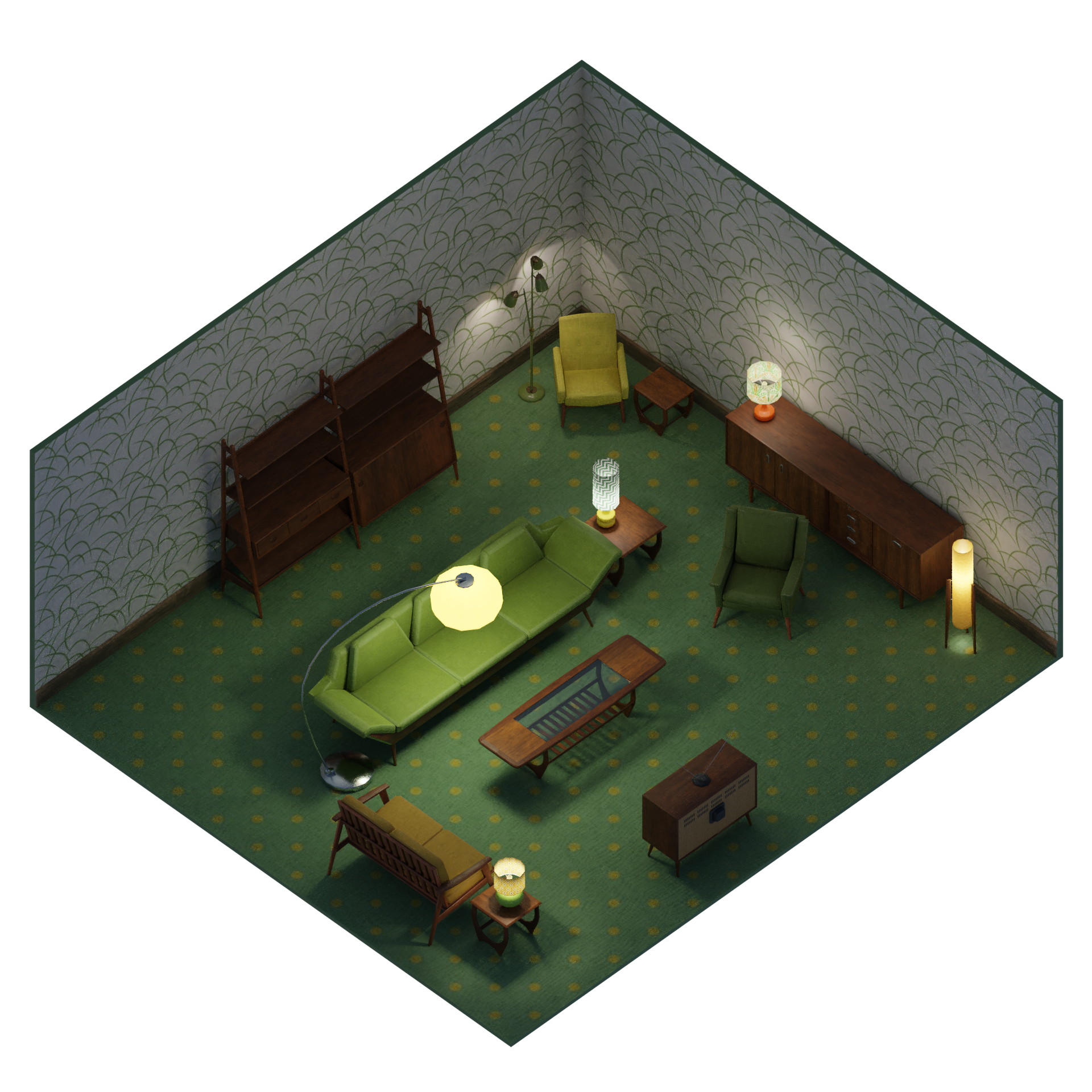 Isometric Style Cycles Render