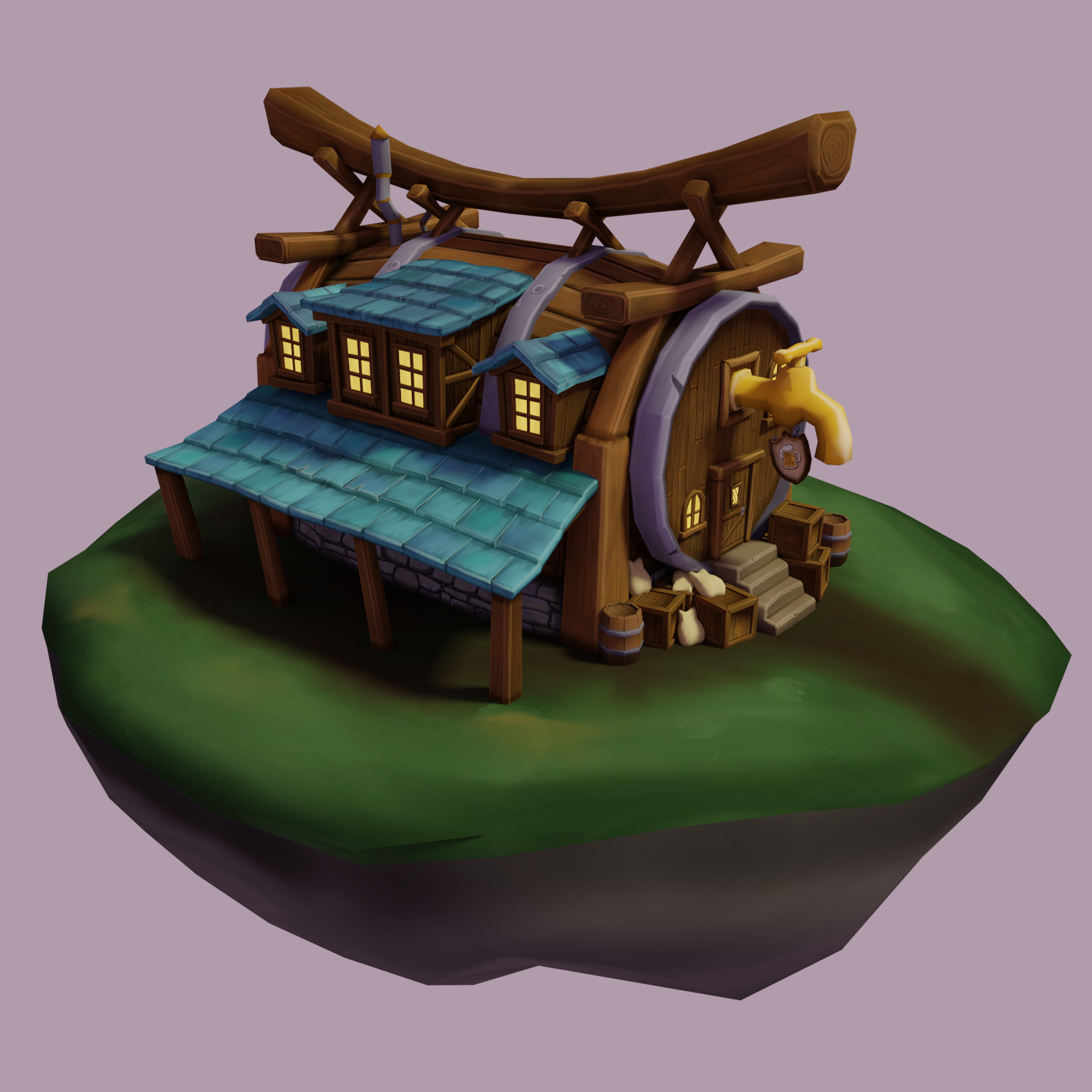 Hand Painted Tavern -