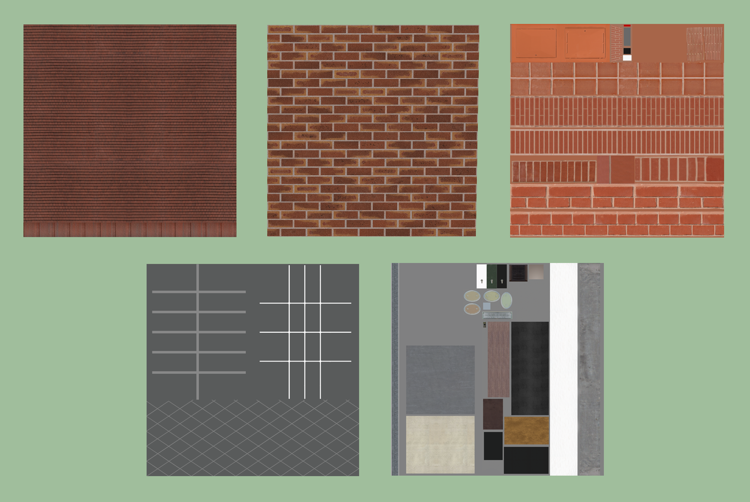 The textures I was supplied for the test.