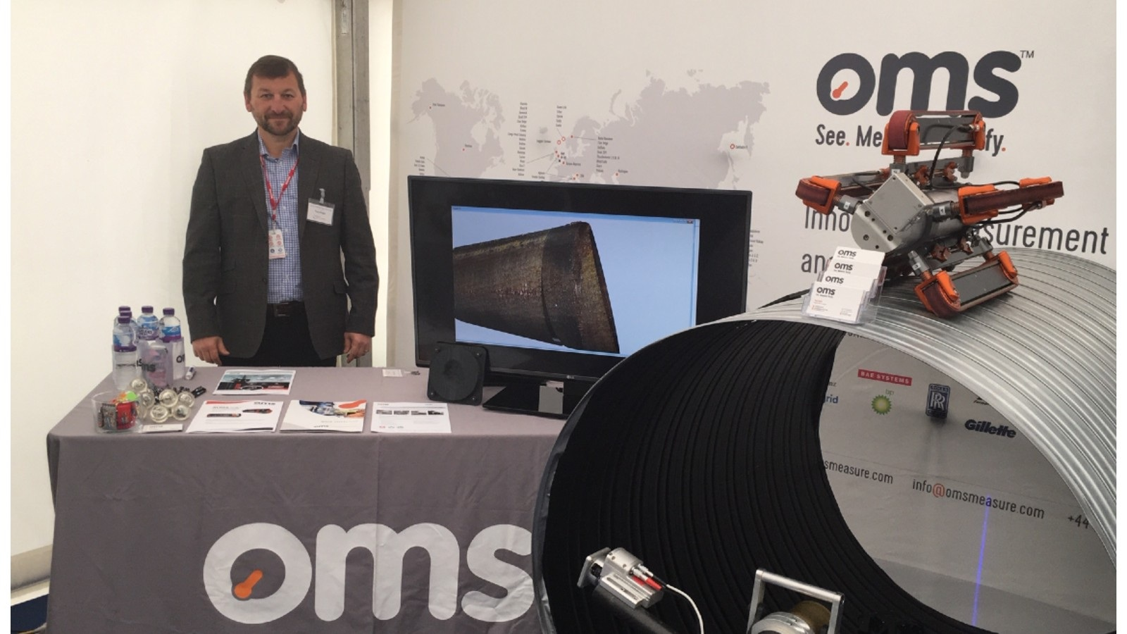 Paul Eagle showcasing our stand at our most recent Event