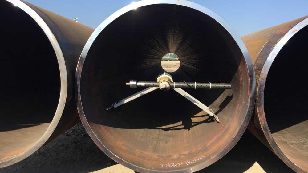 Internal pipe diameter measurement tool