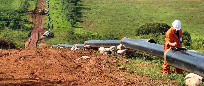 Pipeline installation on land