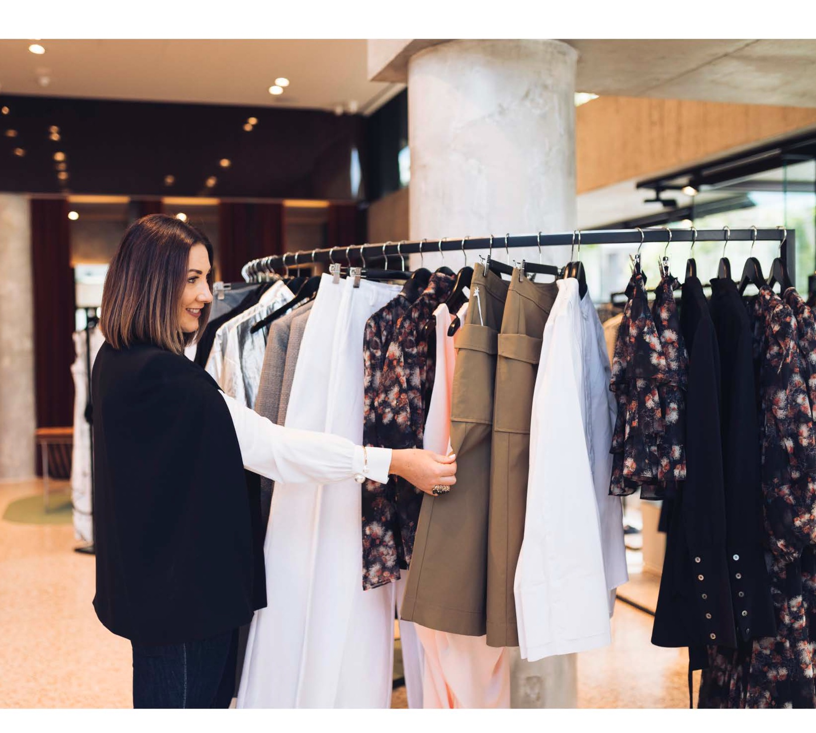 Brisbane stylist Kerrie Carucci shops for womens clothing for her clients.