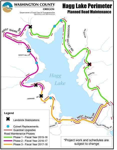 hagg lake fishing map Hagg Lake Brix Paving hagg lake fishing map