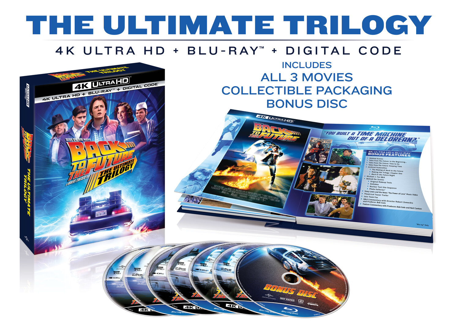 Back to the Future™ Trilogy — One of the Biggest Motion Picture Trilogies  Comes to 4K Ultra HD for the First Time Ever