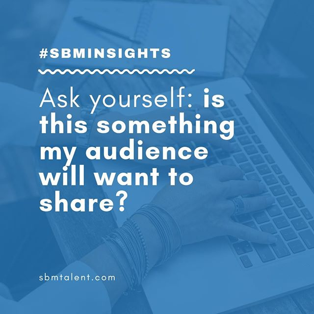 Here's a hack — focus on creating #shareablecontent for your brand on social media. That's how you grow your audience #networkeffect⠀ ⠀ #SBMTalent #marketing #contentmarketing #marketingfirm #socialmediamanagement #londonagency #pitching #sales #marketingtips #events