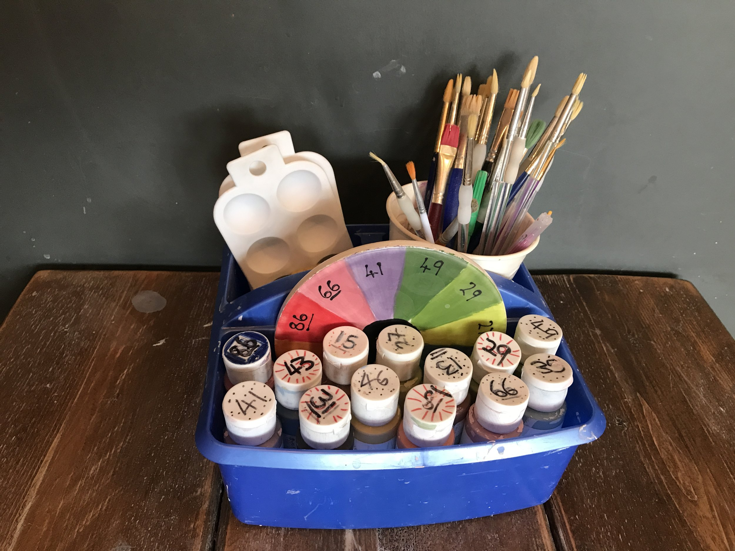 Paint at Home or In the Studio - Take away kits for pottery painting on the go. OR book a time to come into our Hereford studio.