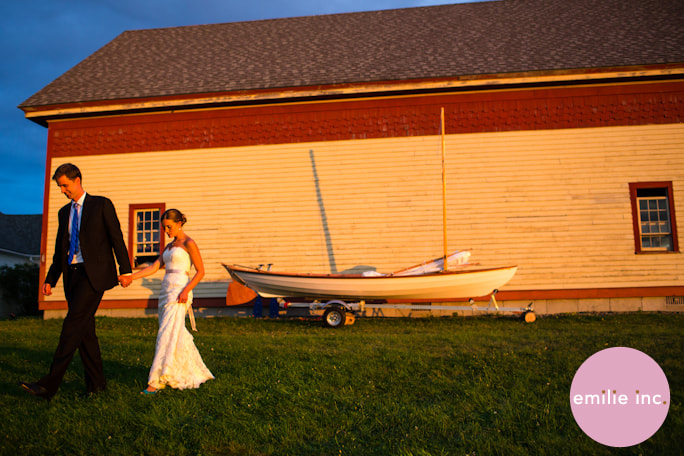 Speaking of couples who make things, Cara and Will built, yes, built, this sailboat for their post-wedding adventures.