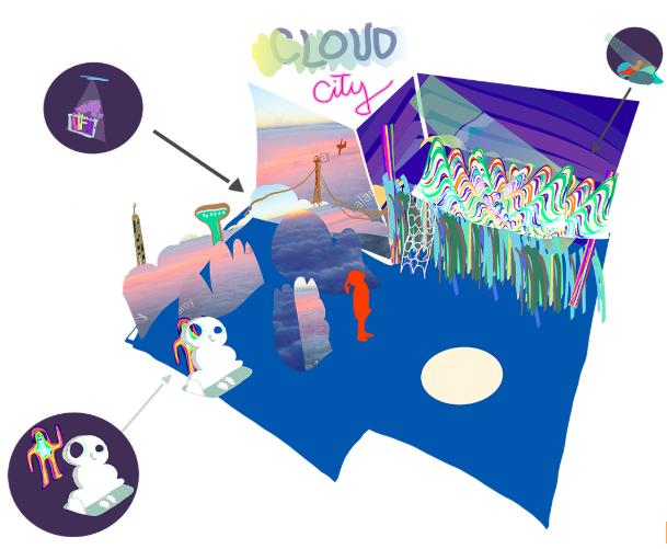 Original Rendering of Cloud City Exhibit