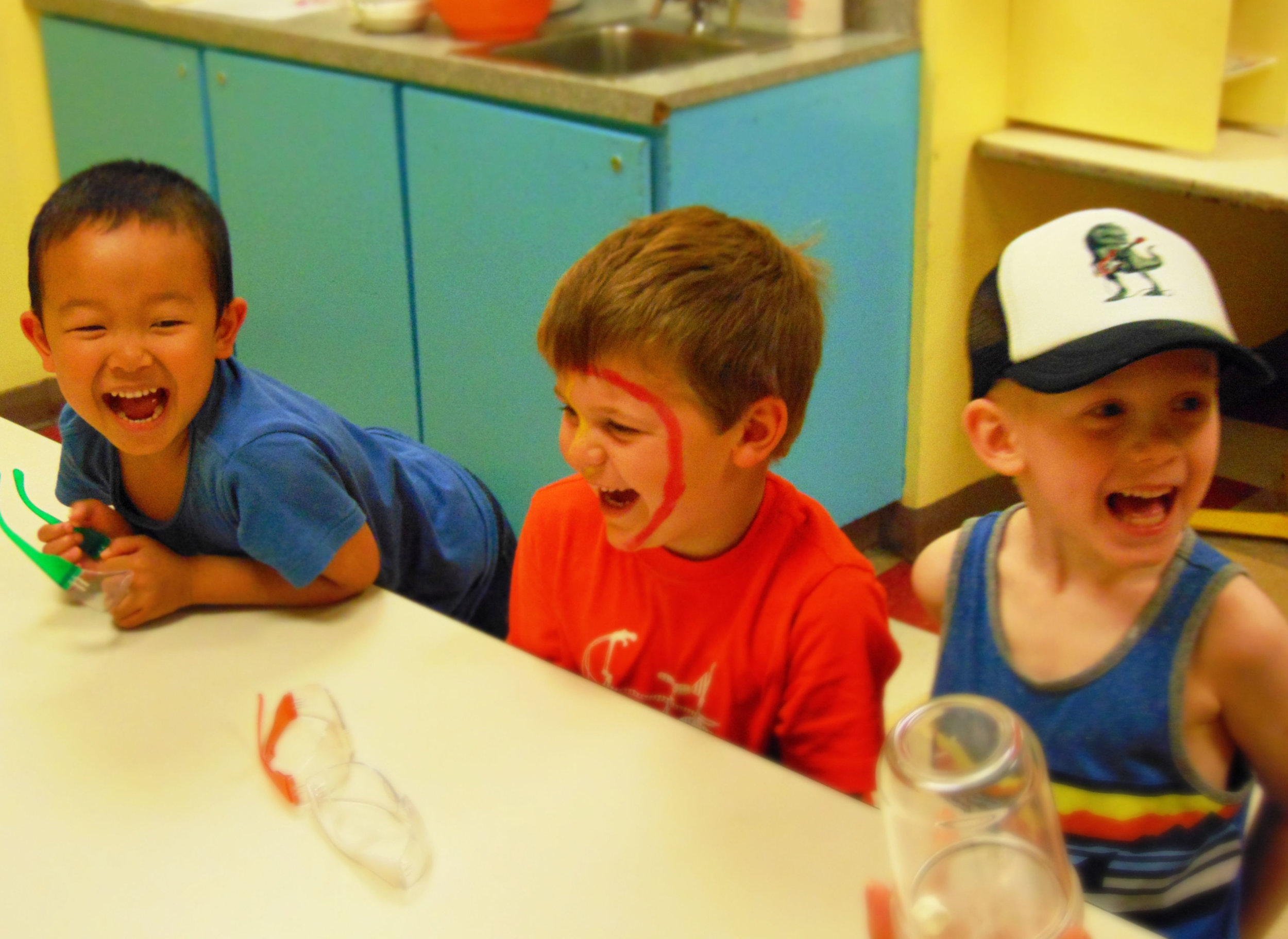Children laughing at camp!