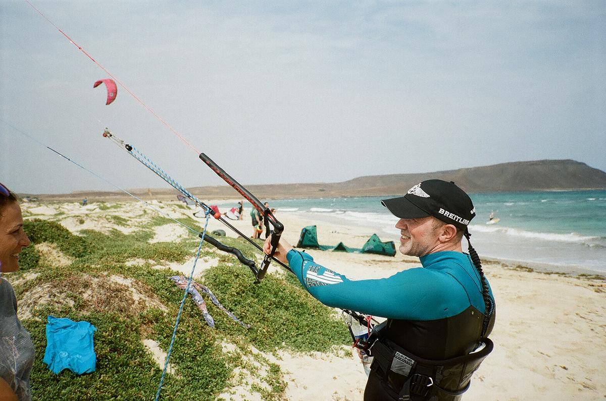 Last but not least kam ich auch noch zum Kiten - einfach ein wunderbares Hobby :-)! Thanks Lino Hess für das Bild.