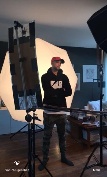 Samir beim Shooting