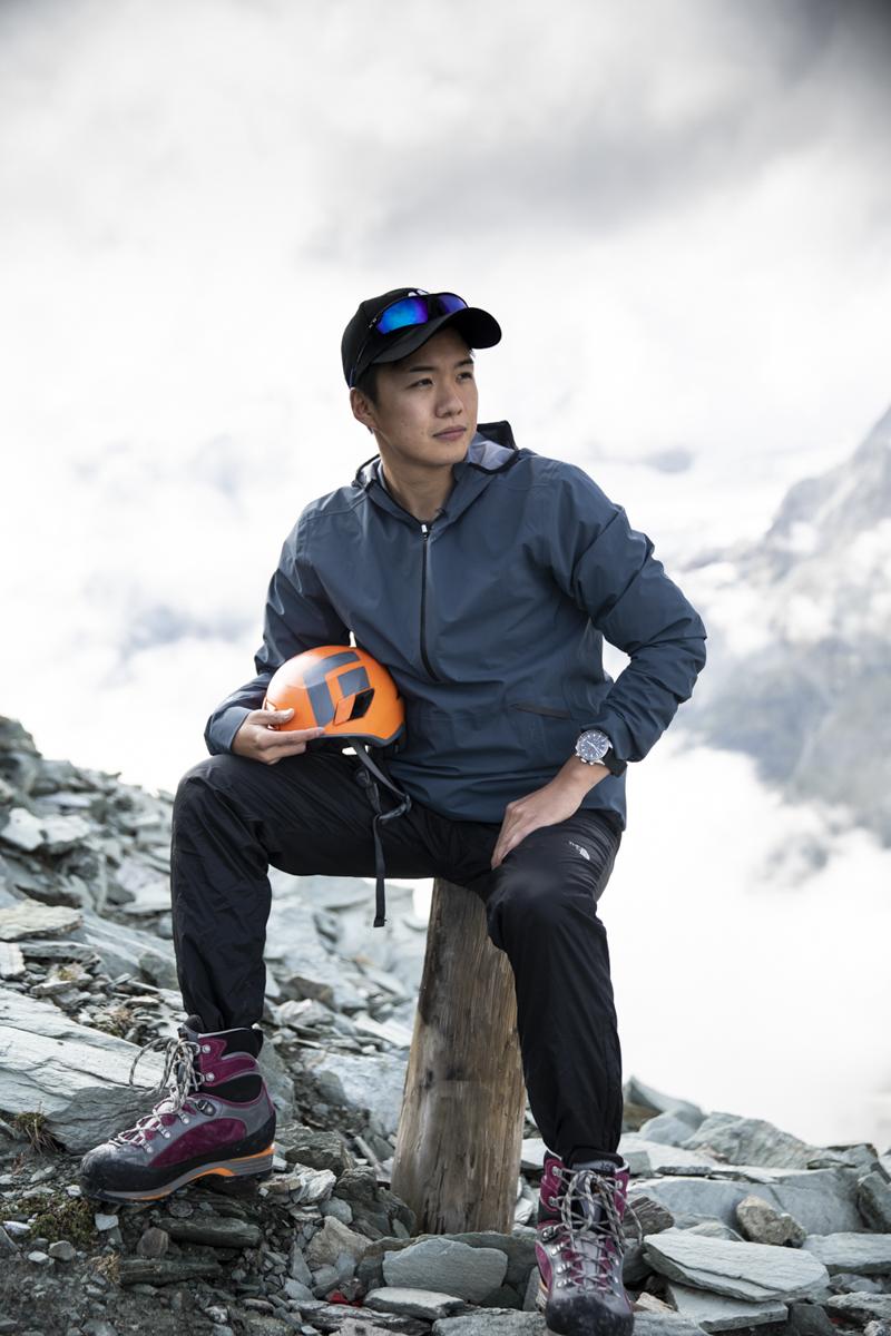 Naoto aus Tokio nach der Trainingseinheit fokussiert auf den Aufstieg.