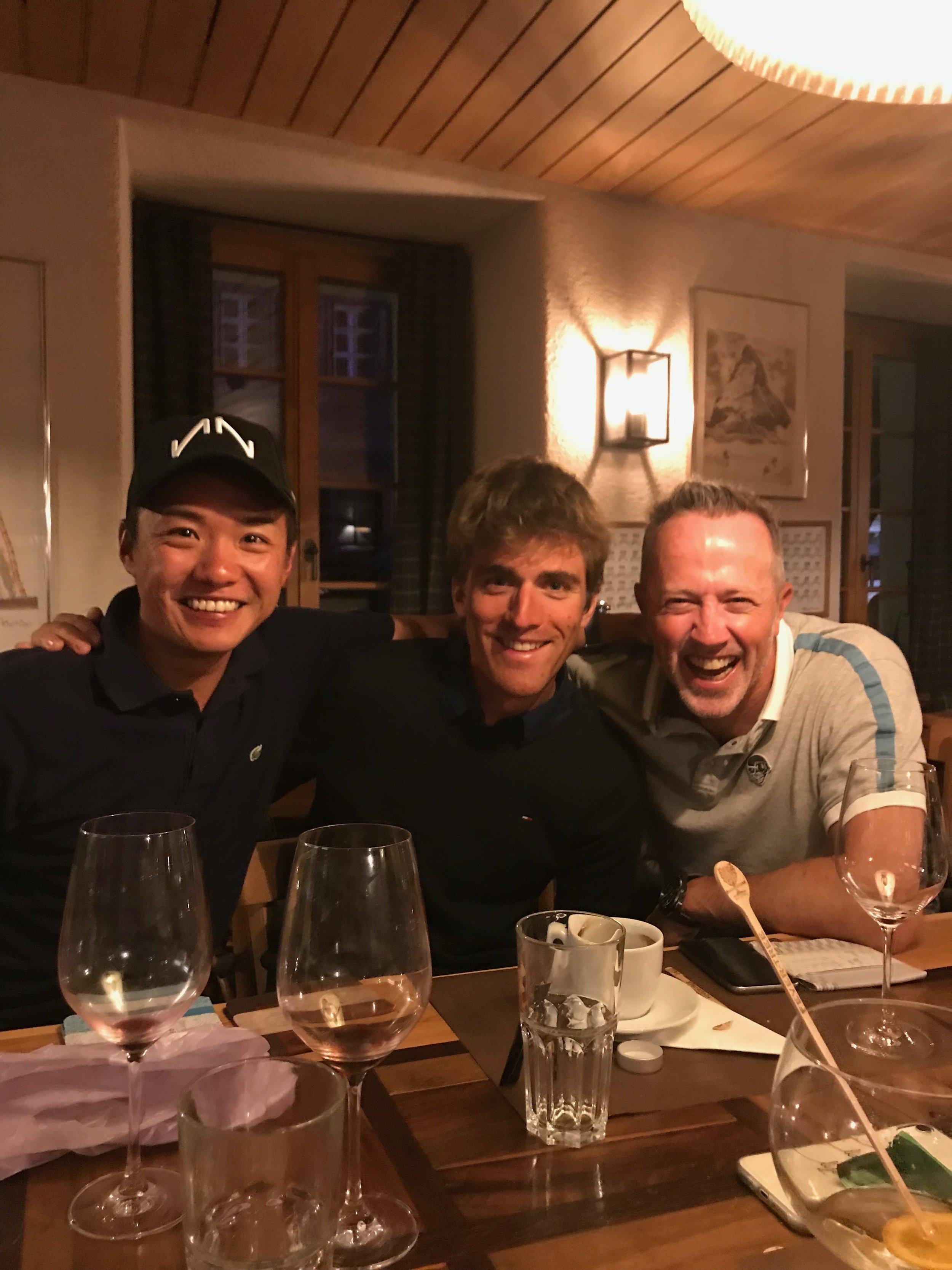 Naoto, Andy und ich gut gelaunt am Schlussabend :-).
