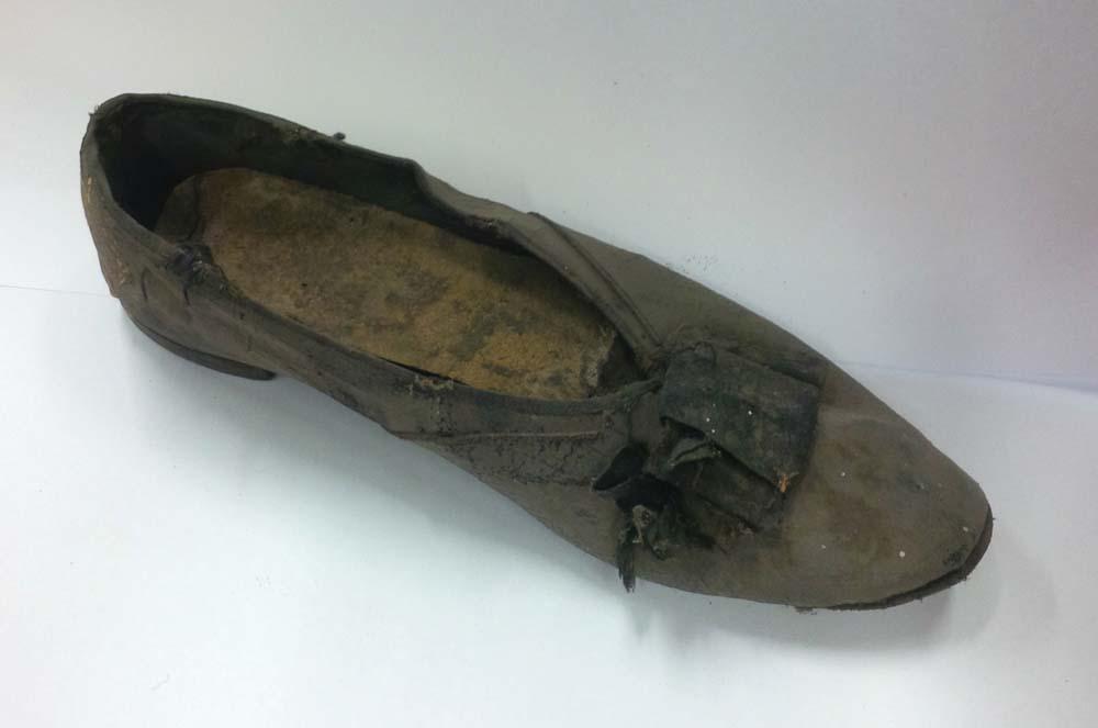 Shoe found under stage - York Theatre Royal.jpg