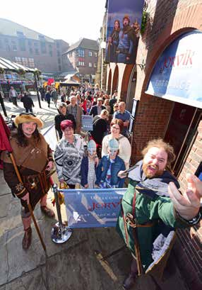 First visitors to the re-imagined JORVIK Viking Centre