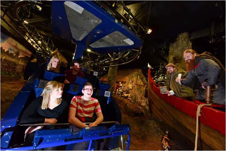 Visitors travel around our recreation of Jorvik in capsules, meeting real Vikings along the way!