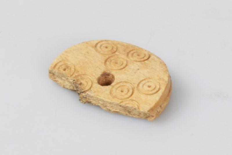 Bone gaming counter found at Hungate.