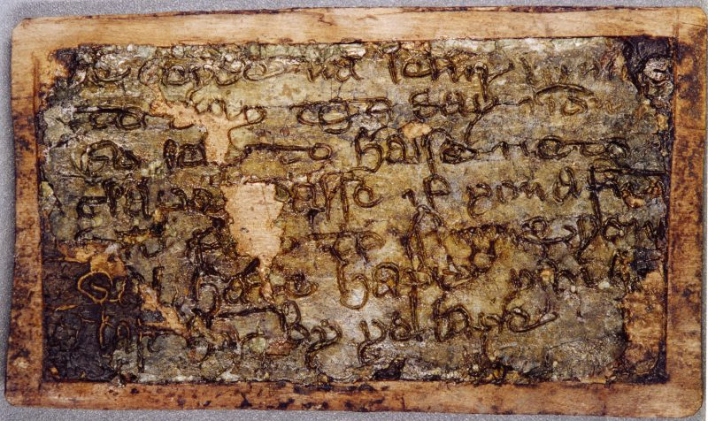 Mid-14th century wax tablets, found at Swinegate.