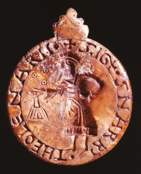 Mid-12th century ivory seal of Snarrus the toll gatherer.