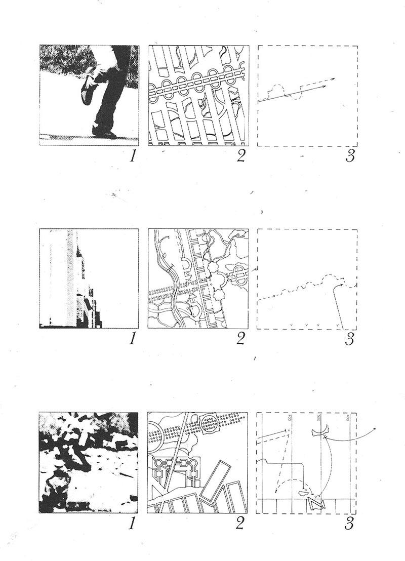 """Source  - MT1 - """"The Park"""" - Bernard Tschumi - The Manhattan Transcripts."""