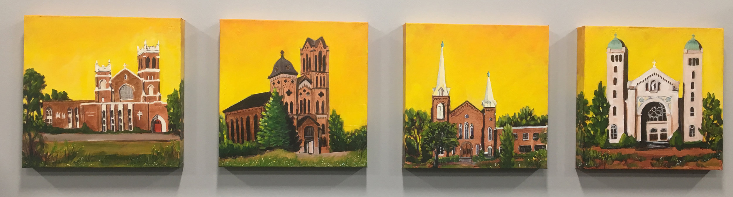 Betty Kay Price, paintings of iconic Jackson churches.