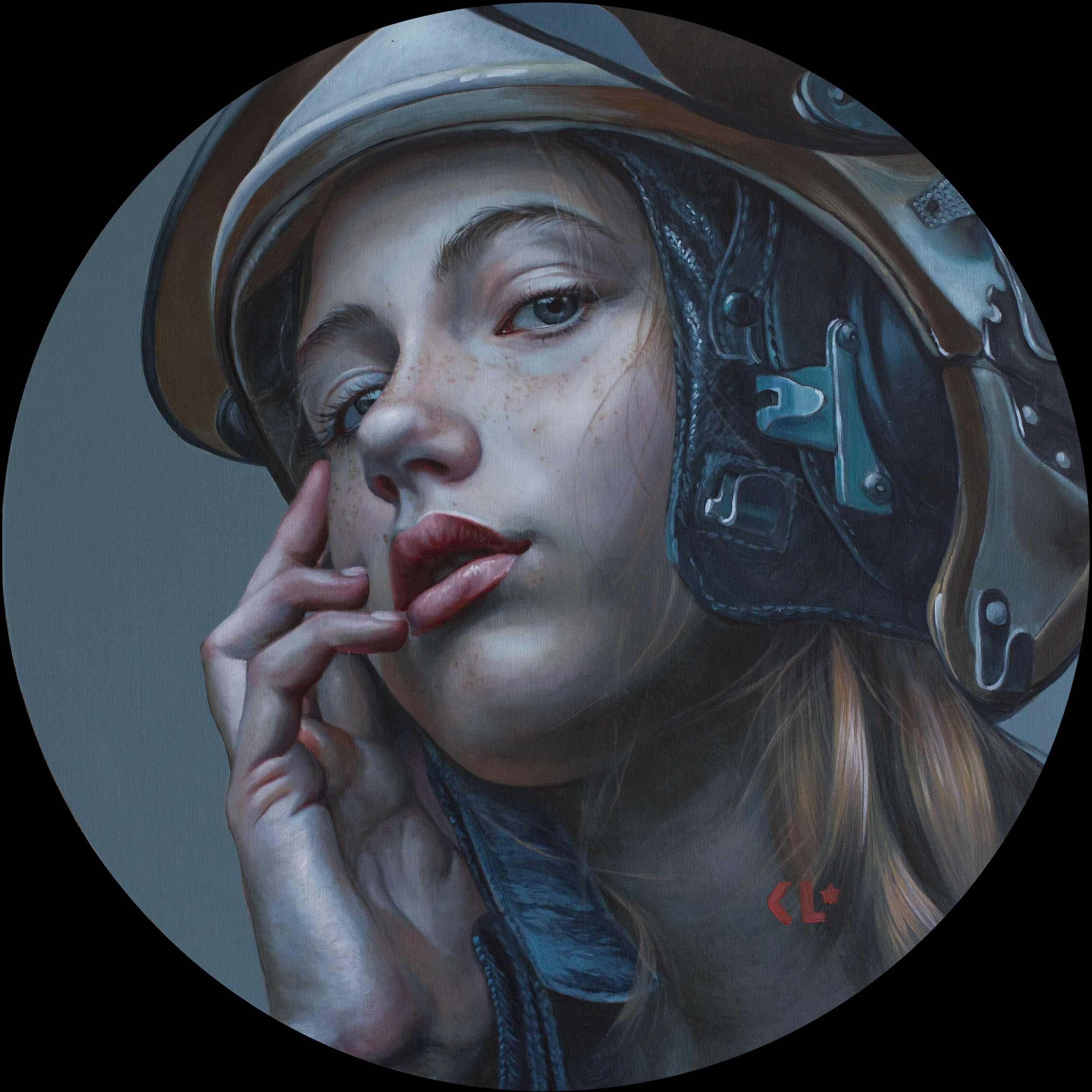 Kathrin Longhurst |  So long baby  | oil on ACM panel | 24 inches