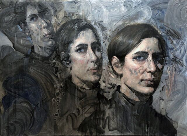 """Hyeseung Marriage-Song, Lilo, (2018), Oil on linen, 60"""" x 84"""""""