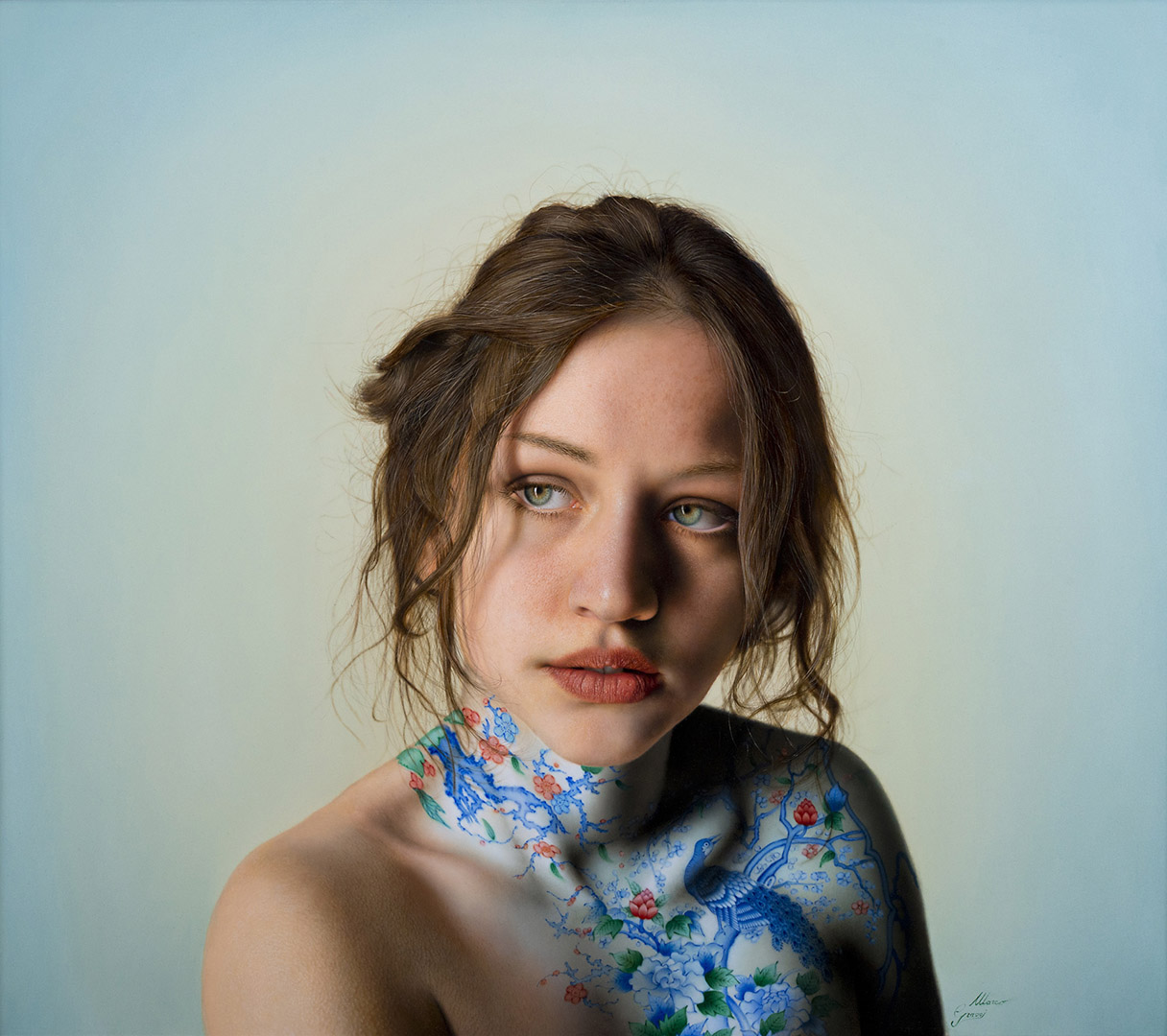 Marco Grassi, Italy 'The Garden' 28 X 31in/70X80cm Acrylic, alkyd and oil on canvas. 2014