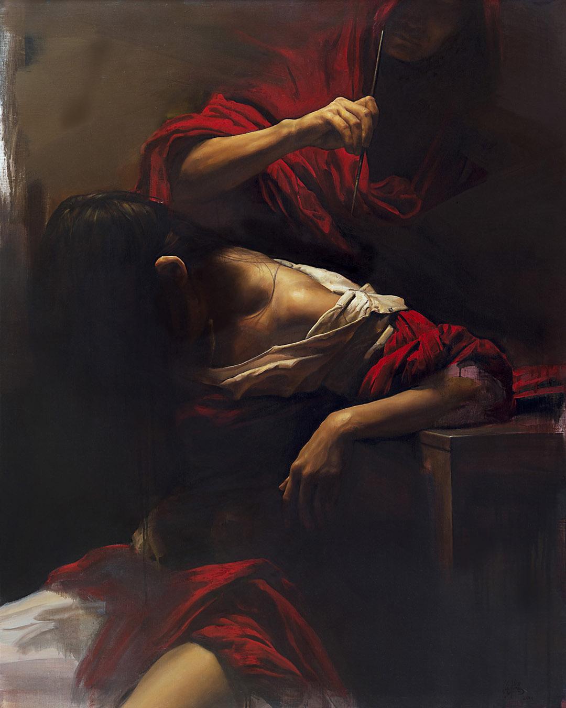 Liu, Yuanshou, China 'Reforge VI' 29 X 31in/100 X 80cm, Oil on canvas, 2013/14